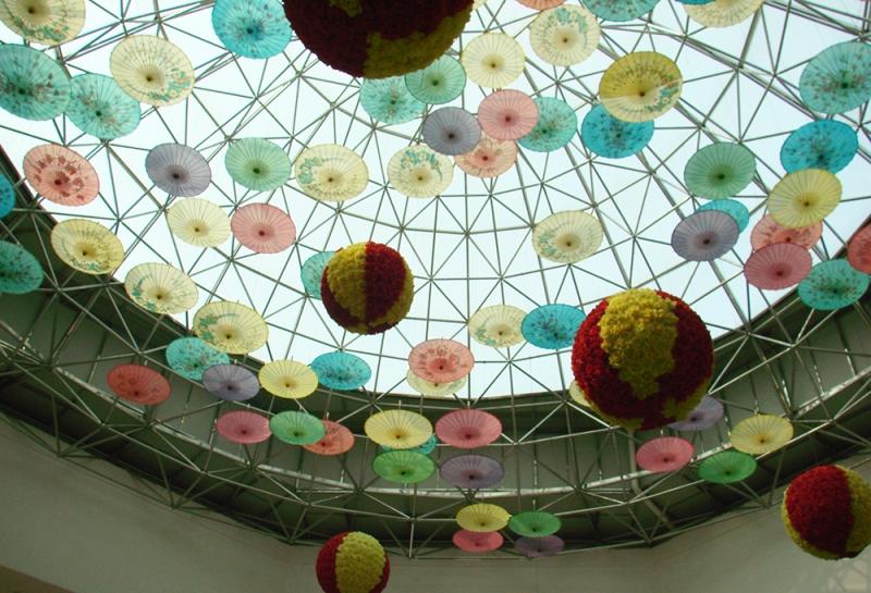 汇豪国际会所不锈钢球形(直径30米)采光网架