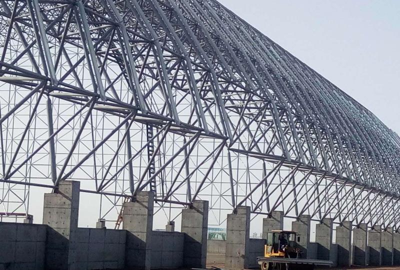 河北渤海煤焦化料棚网架工程